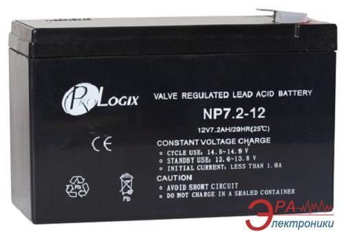 Аккумуляторная батарея PrologiX 12В 7.2Ач (NP7,2-12)