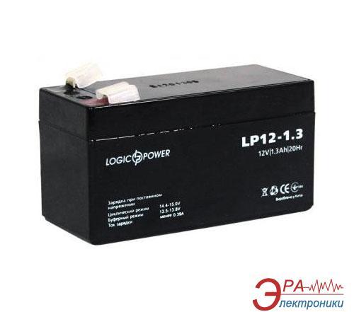 Аккумуляторная батарея LogicPower 12V 1.3AH