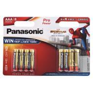Батарейка Panasonic PRO POWER AAA BLI 8 ALKALINE Spider Man (LR03XEG/8B4FSM)