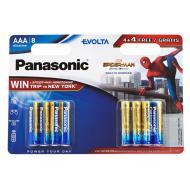 Батарейка Panasonic EVOLTA AAA BLI 8 ALKALINE Spider Man (LR03EGE/8B4FSM)