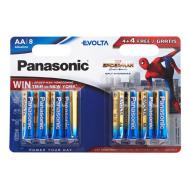 Батарейка Panasonic EVOLTA AA BLI 8 ALKALINE Spider Man (LR6EGE/8B4FSM)