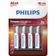 Купить Батарейка Philips Power Alkaline AA BLI 4 (LR6P4B/10)