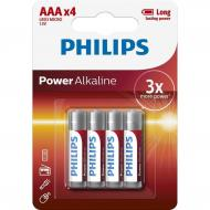 Купить Батарейка Philips Power Alkaline AAA BLI 4 (LR03P4B/10)