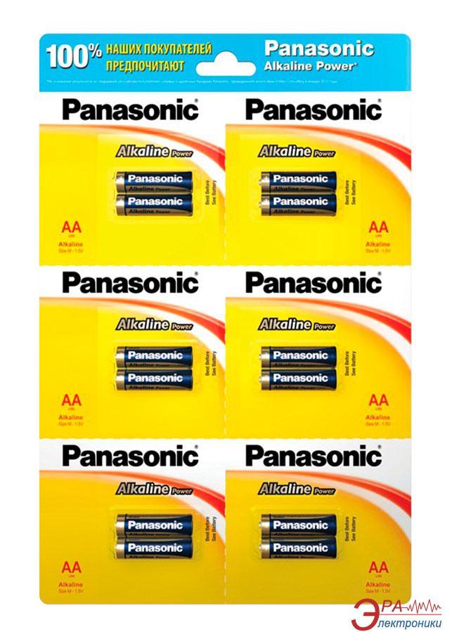 Батарейка Panasonic ALKALINE POWER AA BLI 12 (2х6) (LR6REB/2B12R)