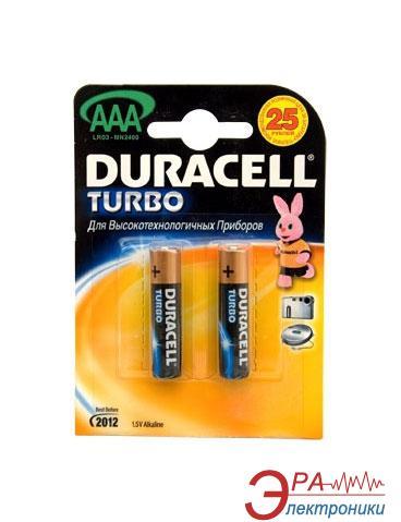 Батарейка Duracell TURBO AAA MN2400 LR03 BLI 2 (81417112)