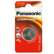 Батарейка Panasonic CR 2430 BLI 1 LITHIUM (CR-2430EL/1B)