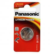 Батарейка Panasonic CR 2450 BLI 1 LITHIUM (CR-2450EL/1B)