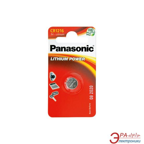 Батарейка Panasonic CR 1216 BLI 1 LITHIUM (CR-1216EL/1B)