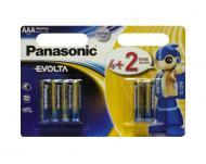Батарейка Panasonic EVOLTA AAA BLI(4+2) ALKALINE (LR03EGE/6B2F)