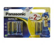 Батарейка Panasonic EVOLTA AA BLI(4+2) ALKALINE (LR6EGE/6B2F)