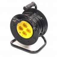 Удлинитель PowerPlant JY-2002/50 4 розетки, 50m, Black - Yellow (PPRA10M500S4)
