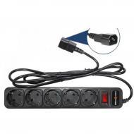 Сетевой фильтр LogicPower LP-X5-UPS 2.0m, 0,75mm2, 10A (2753)