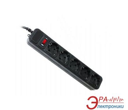Сетевой фильтр Gembird 3m Black 5 розеток (SPG5-G-10B)