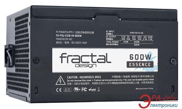 Блок питания Fractal Design Retail Essence Black 600W (FD-PSU-ES1B-HV-600W-EU)