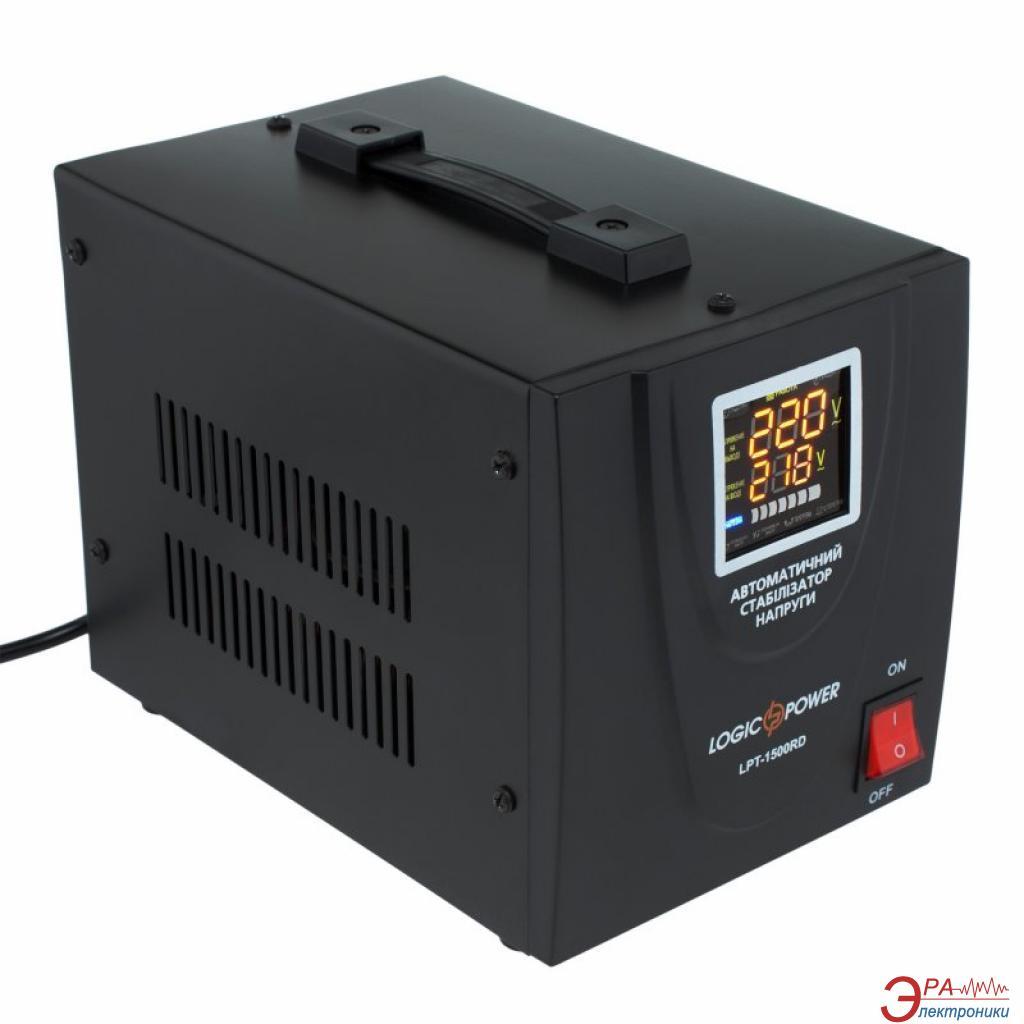Стабилизатор LogicPower LPT-1500RD Black