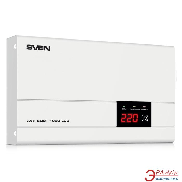 Стабилизатор SVEN AVR SLIM-1000 LCD