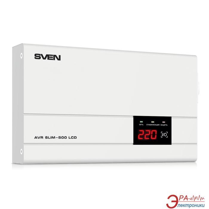 Стабилизатор SVEN AVR SLIM-500 LCD
