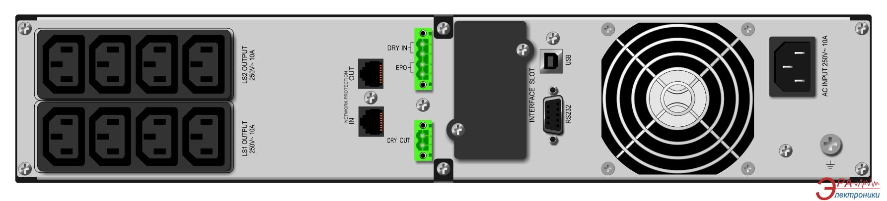 ИБП Mustek PowerMust 1090 RM Online LCD (98-ONC-R1009)