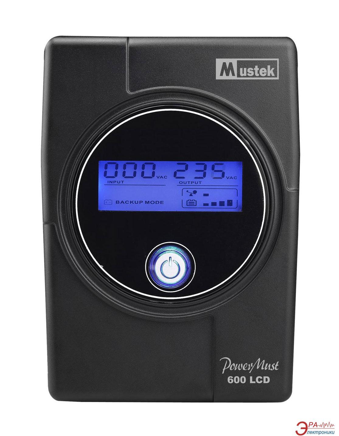 ИБП Mustek PowerMust 600 LCD (98-OCD-L0600)