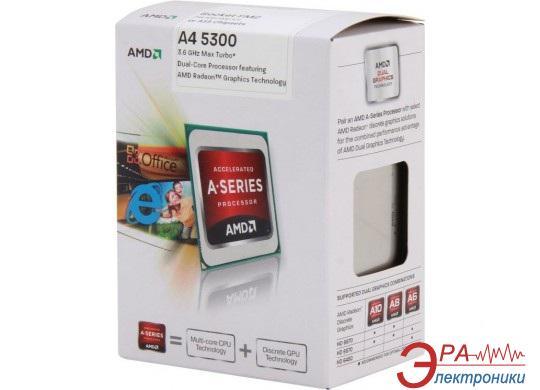 Процессор AMD A4 X2 5300 (AD5300OKHJBOX) socket FM2 Box