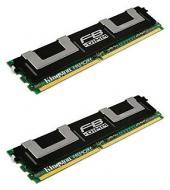 DDR2 ECC FB-DIMM 240-контактный 8 Gb 667 MHz PC2-5300 Kingston (Kit of 2x KVR667D2D4F5/4G) (KVR667D2D4F5K2/8G)