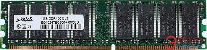 Оперативная память DIMM DDR 1024 Мб 400 MHz PC3200 takeMS (BD1024TEC600)