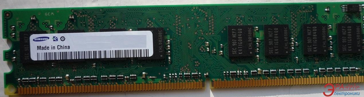 Оперативная память DDR2 2 Гб 800 MHz PC6400 Samsung Major (K4T1G084QQ / IC_K4T1G084QF-BCF7)