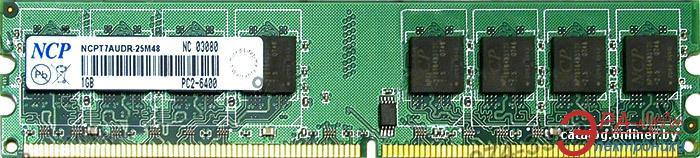 Оперативная память DDR2 1 Гб 800 MHz PC6400 NCP (NCPT7AUDR-25M48)