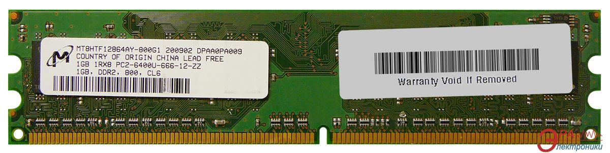 Оперативная память DDR2 1 Гб 800 MHz PC6400 Micron (MT8HTF12864AY-800G1)
