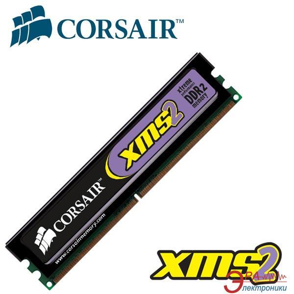 Оперативная память DDR2 1 Гб 800 MHz PC6400 Corsair (CM2X1024-6400)