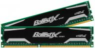 Оперативная память DDR3 2x4 Гб 1600 МГц Ballistix Sport (BL2KIT51264BA160A) CL10