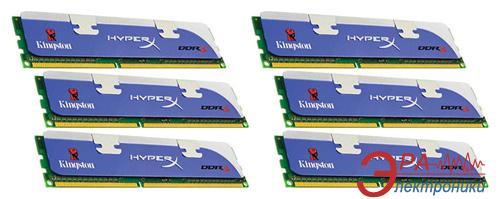 Оперативная память DDR3 6x4 Гб 1600 МГц Kingston HyperX Intel XMP (KHX1600C9D3K6/24GX)