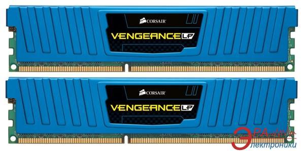Оперативная память DDR3 2x4 Гб 1600 МГц Corsair Vengeance Low Profile (CML8GX3M2A1600C9B) Blue
