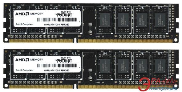 Оперативная память DDR3 2x2 Гб 1600 МГц Patriot AMD (AE34G1609U1K-U)