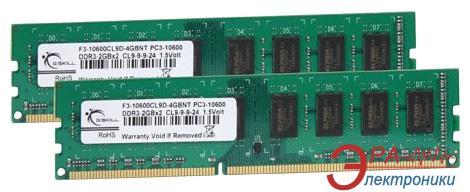 Оперативная память DDR3 2x2 Гб 1333 МГц G.Skill Original (F3-10600CL9D-4GBNT)