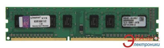 Оперативная память DDR3 2 Гб 1600 МГц Kingston (KVR16N11/2)