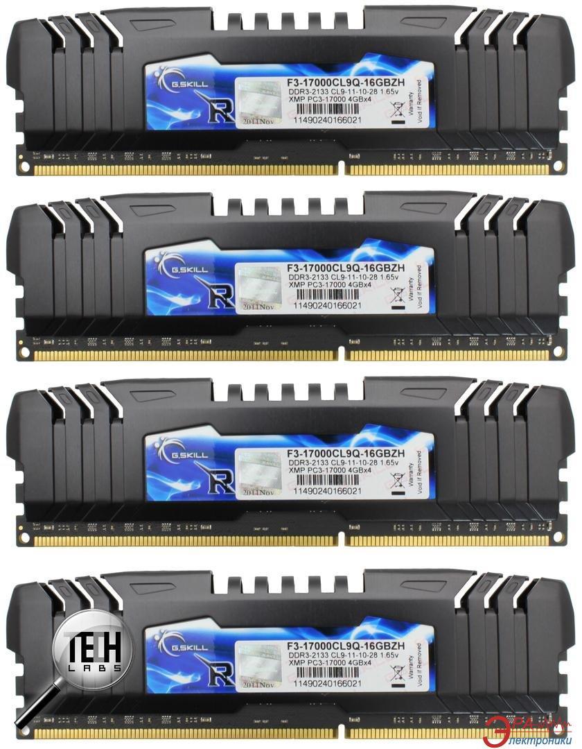 Оперативная память DDR3 4x4 Гб 2133 МГц G.Skill (F3-17000CL9Q-16GBZH)