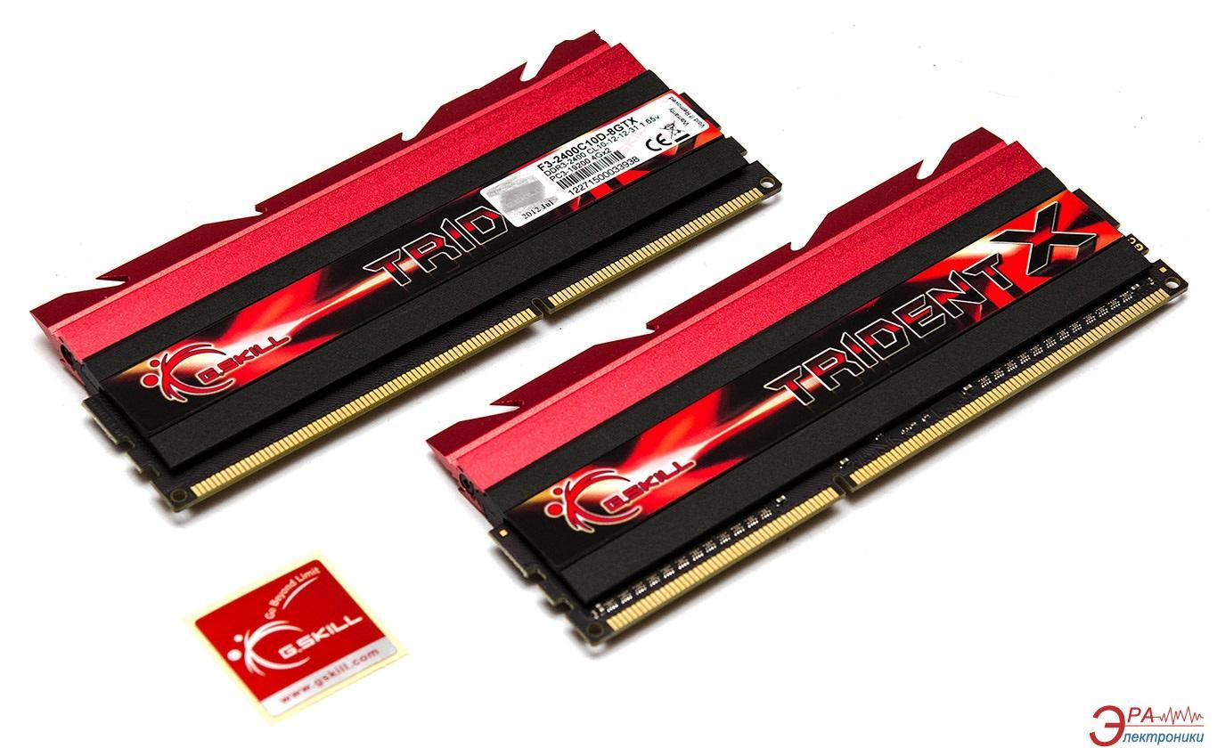 Оперативная память DDR3 2x4 Гб 2400 МГц G.Skill (F3-2400C9D-8GTXD)