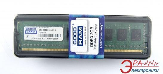Оперативная память DDR3 2 Гб 1333 МГц Goodram (GR1333D364L9/2G)