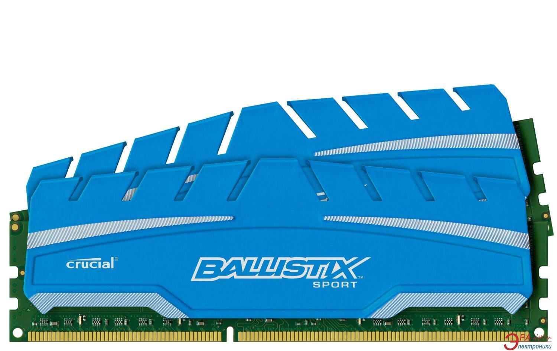 Оперативная память DDR3 2x8 Гб 1866 МГц Micron Ballistix Sport XT (BLS2C8G3D18ADS3CEU)