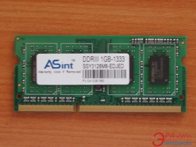Оперативная память SO-DIMM DDR3 1 Gb 1333 МГц Asint