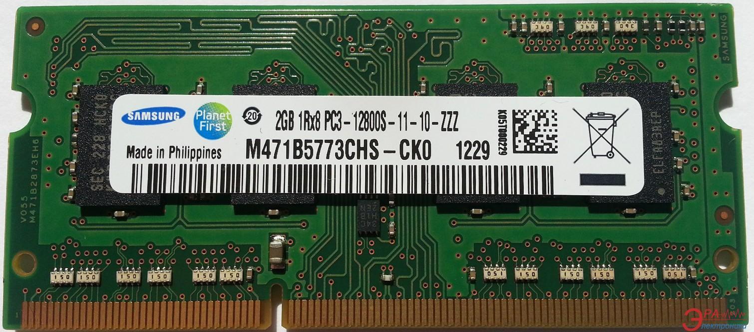 Оперативная память SO-DIMM DDR3 2 Gb 1600 МГц Samsung (M471B5773CHS-CK0)