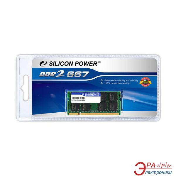 Оперативная память SO-DIMM DDR2 1 Gb 667 МГц Silicon Power (SP001GBSRU667S02/*O02)