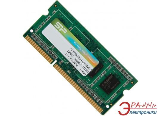 Оперативная память SO-DIMM DDR3 2 Gb 1600 МГц Silicon Power (SP002GBSTU160V02)