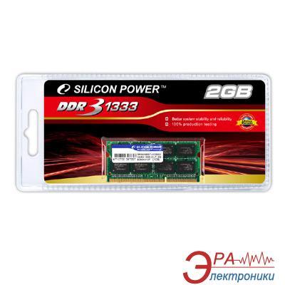 Оперативная память SO-DIMM DDR3 1 Gb 1333 МГц Silicon Power (SP002GBSTU133S02)