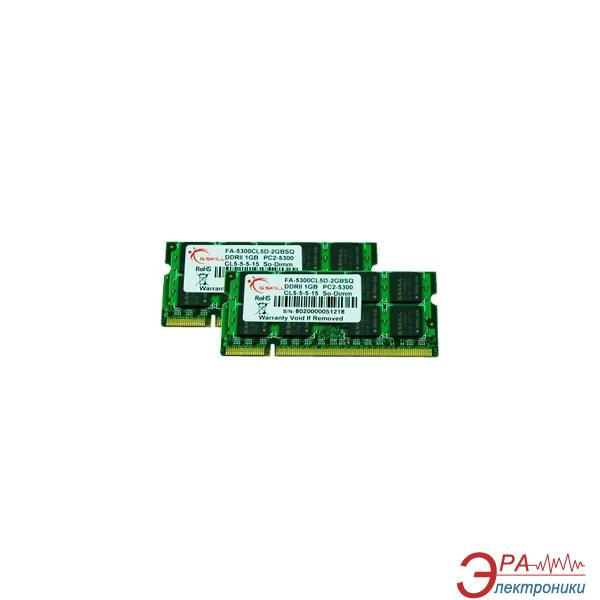 Оперативная память SO-DIMM DDR2 2*1 Gb 667 МГц G.Skill (FA-5300CL5D-2GBSQ) для Apple