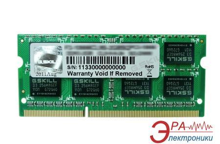 Оперативная память SO-DIMM DDR3 2 Gb 1600 МГц G.Skill (F3-12800CL9S-2GBSQ)