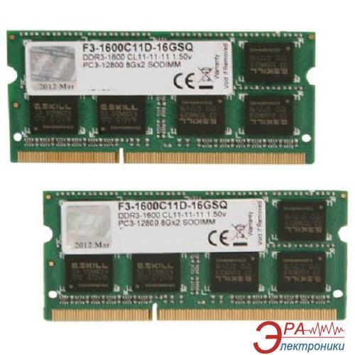 Оперативная память SO-DIMM DDR3 2*8 Gb 1600 МГц G.Skill (F3-1600C11D-16GSQ)