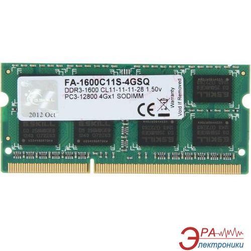 Оперативная память SO-DIMM DDR3 4 Gb 1600 МГц G.Skill (FA-1600C11S-4GSQ)