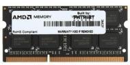 Оперативная память SO-DIMM DDR3 2 Gb 1333 МГц Patriot AMD BULK (AE32G1339S1-UO)